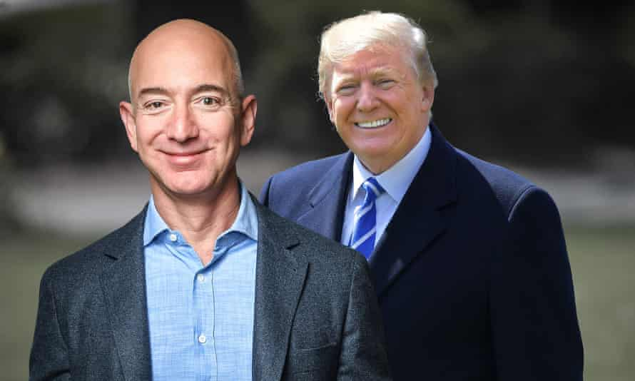 Jeff Bezos and Donald Trump COMPOSITE