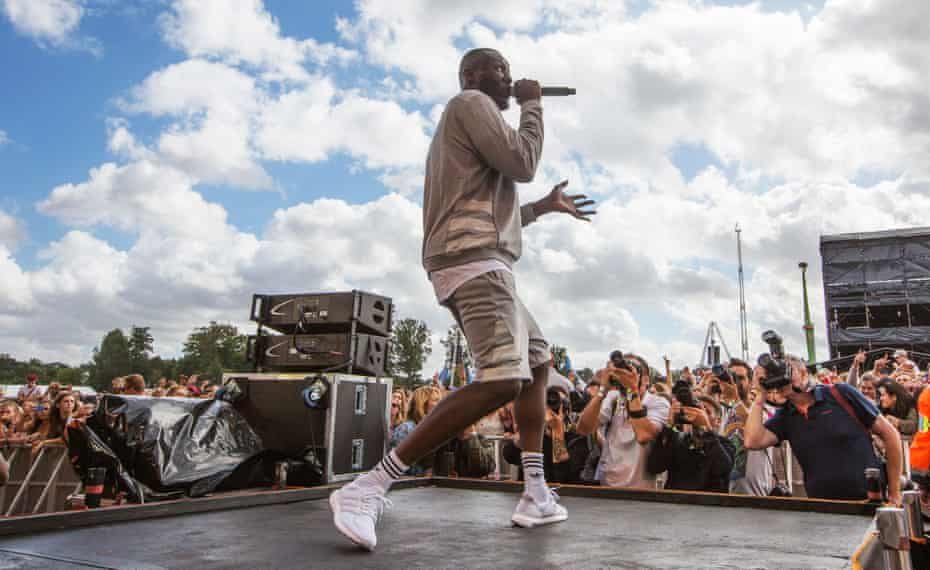 Stormzy performing at the V festival in Chelmsford, August 2016.