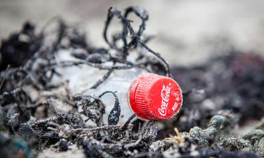 Coca-Cola bottle on a beach in Mull, Scotland