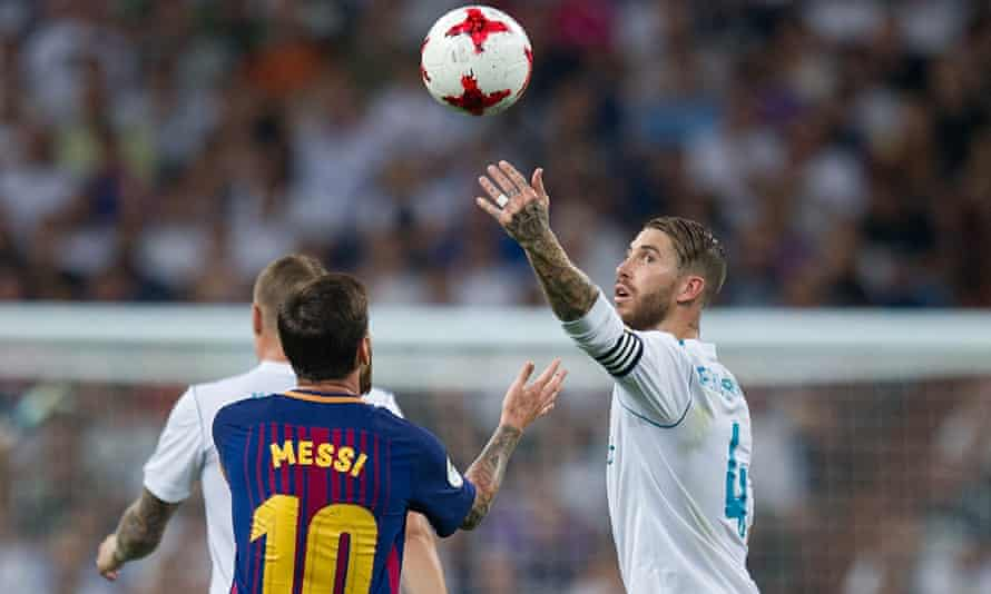 Sergio Ramos refuses to play ball with Lionel Messi.