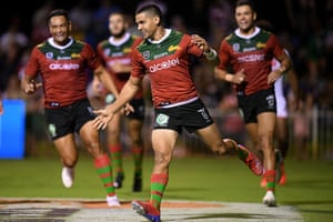 South Sydney players celebrate