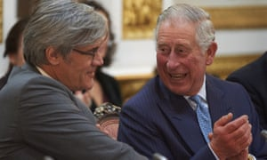 Prince Charles and French agriculture minister, Stéphane Le Foll at the Sustainable Landscapes meeting in London