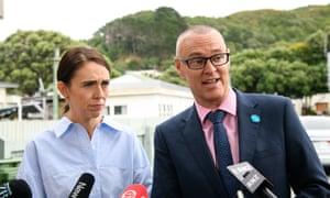 Prime Minister Jacinda Ardern and health minister Dr David Clarke