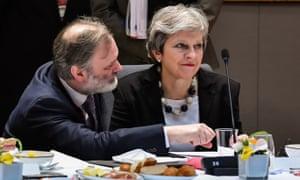 Tim Barrow and Theresa May