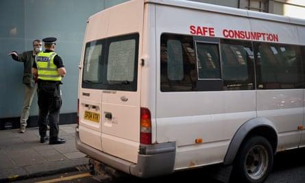 Peter Krykant's safe drug use van