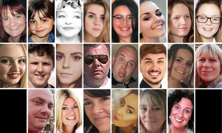 Victims of the May 2017 Manchester arena bombing.