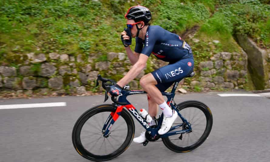Tao Geoghegan Hart during the 187km first stage of the Tour des Alpes-Maritimes et du Var from Biot to Gourdon.