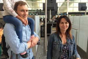 Hayley Burrey was waiting for a flight to Greece with her partner Chris Lambert and their two daughters