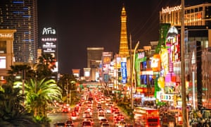 US cities such as Las Vegas are popular destinations for people taking short breaks.