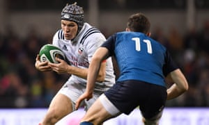 Will Hooley, pictured in action for USA against Ireland last November, will make his Rugby World Cup debut in Japan.