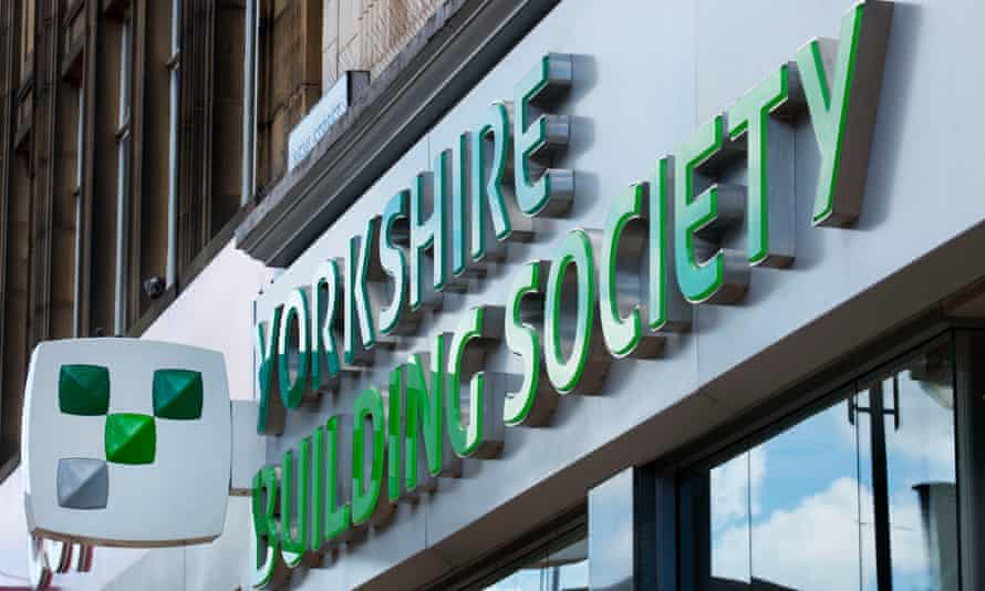 Yorkshire building society sign above a branch.