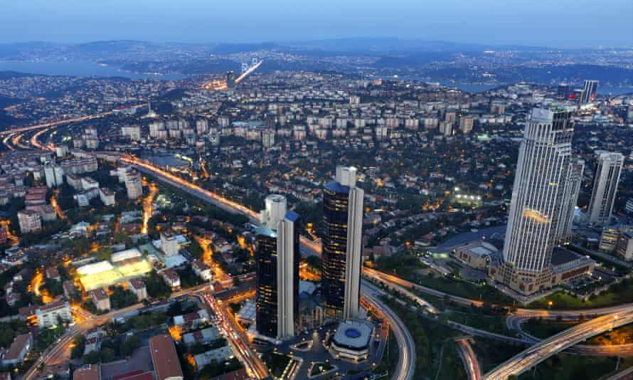 Aerial view of Istanbul, Turkey