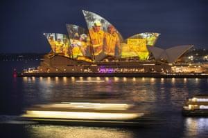 Projection on Sydney Opera House