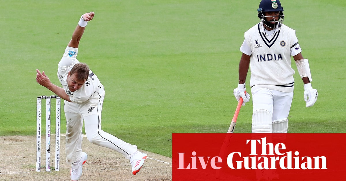 India v New Zealand: World Test Championship final, day two – live!