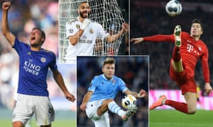 Leicester City's Jamie Vardy, Karim Benzema of Real Madrid, Bayern Munich's Robert Lewandowski and Ciro Immobile of Lazio have been frequently finding the net this season.