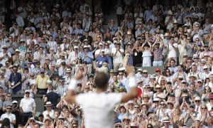 Rafael Nadal salutes the Centre Court crowd