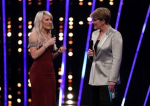 Elise Christie at the BBC Sports Personality of the Year show. 'I was thrilled to be on the shortlist,' she says