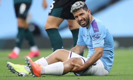 Sergio Agüero is unlikely to feature in Manchester City's Champions League campaign in Lisbon.