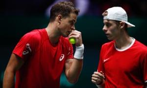 Denis Shapovalov and Vasek Pospisil have taken Canada into the final.
