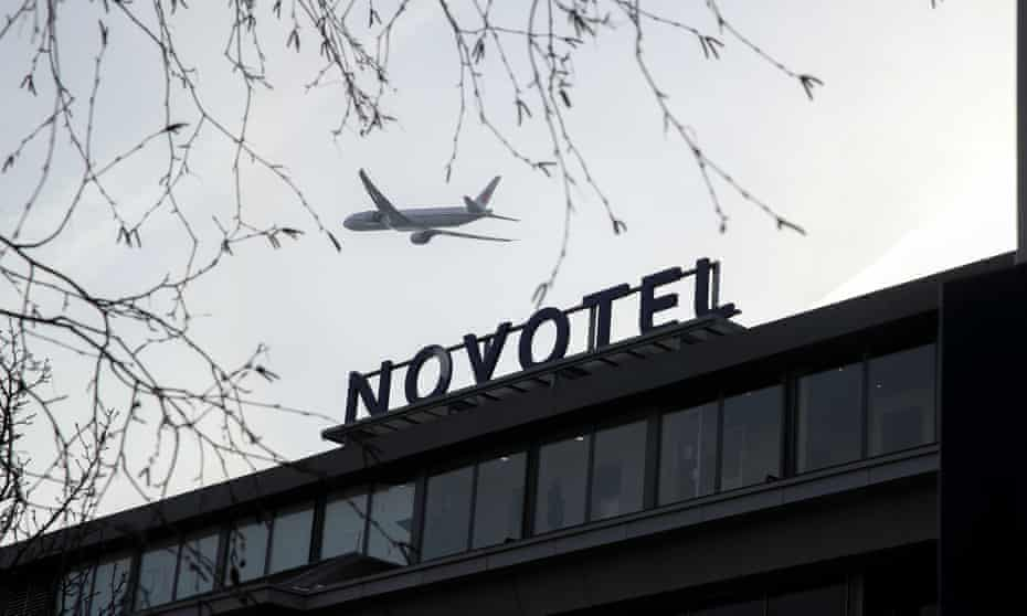 People returning to England from certain high-risk countries will be required to spend 10 days in a designated hotel such as the Novotel at Heathrow.