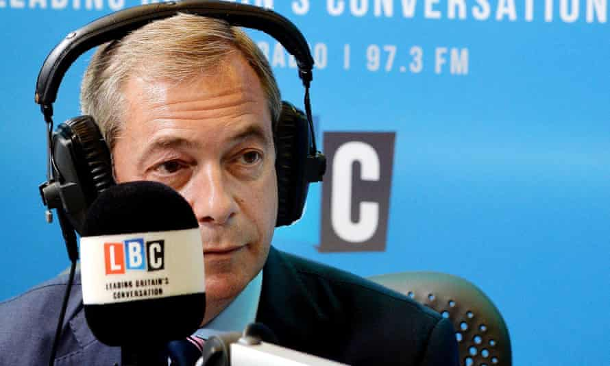 'LBC has long been too cosy with his agenda' ... Nigel Farage.