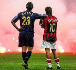 Materazzi and Rui Costa