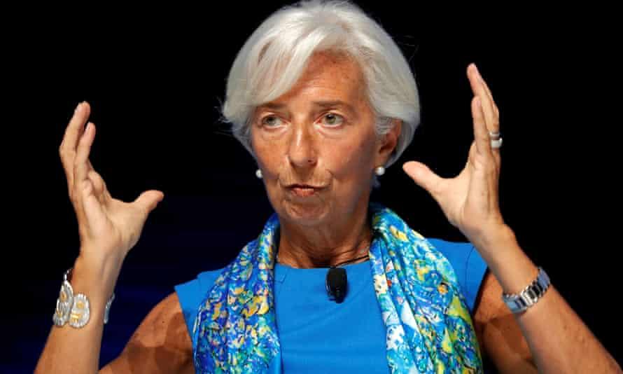 The head of the IMF, Christine Lagarde