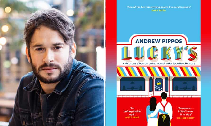 Andrew Pippos's with his first book Lucky's