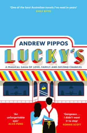 Andrew Pippos and his book Lucky's, Guardian Australia book review November 2020