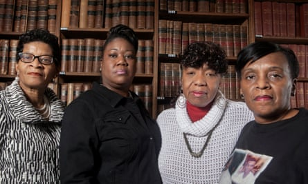 Mothers of the Movement … Geneva Reed-Veal, Sybrina Fulton, Gwen Carr and Valerie Bell, pictured at the Oxford Union.