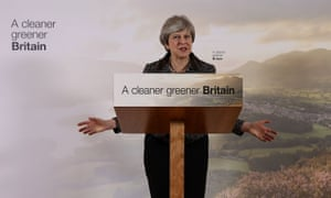 Theresa May launching the government's 25-year environment plan