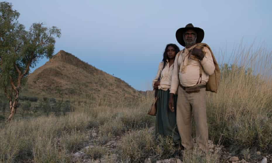Hamilton Morris as Sam Kelly and Natassia Gorey-Furber as Lizzie in the Australian film Sweet Country