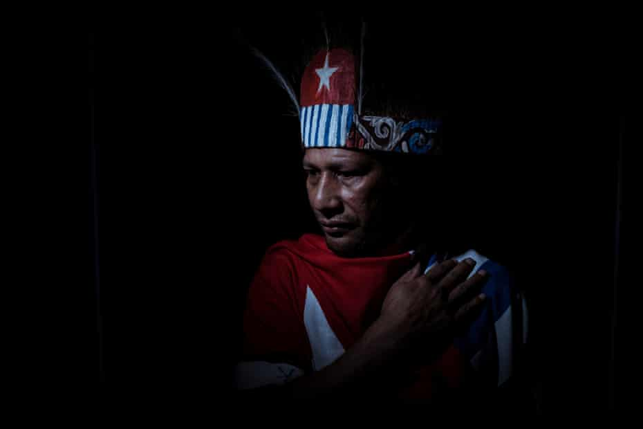 Yudha Korwa fled West Papua and came to Australia in 2006 after a massacre by the Indonesian military.