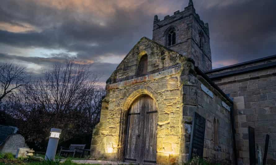 St Wilfrid's church by night.