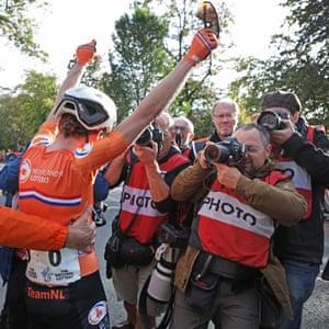 Annemiek van Vleuten won the women's elite road race