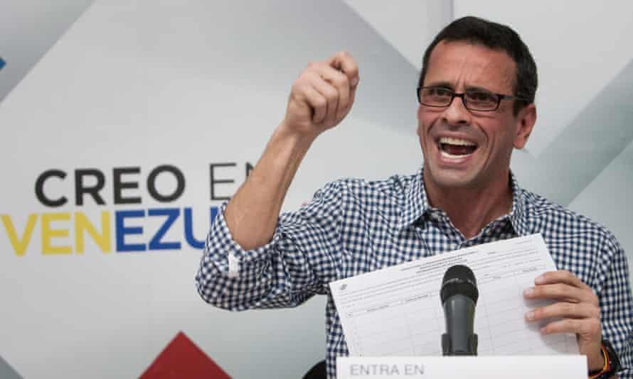 Venezuelan opposition leader Henrique Capriles.