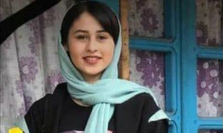 Romina Ashrafi, a 14-year-old girl who is the alleged victim of a so-called 'honour killing' in Iran.