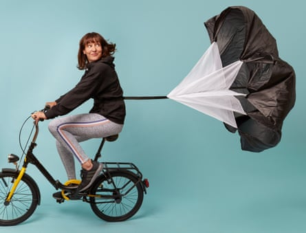 Zoe Williams riding a bike