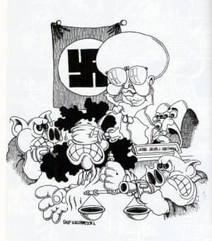 These drawings were executed in Judge Julius Hoffman's courtroom in 1969 during the conspiracy trial of the Chicago Seven