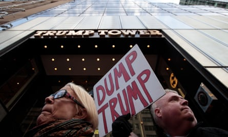 National Organization For Women Protests Outside Of Trump Tower