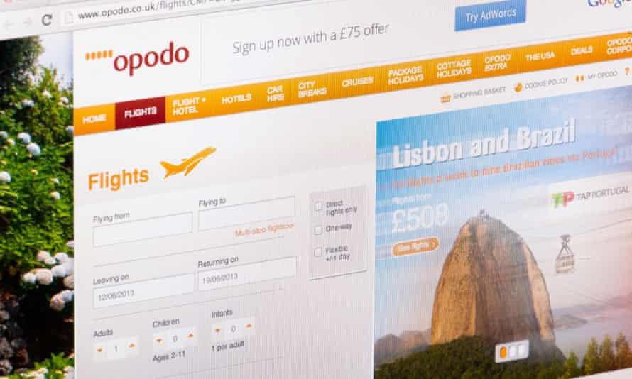 Opodo Flights Website