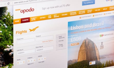 The Opodo website asks for a customer's name, then in some cases duplicates the surname on the booking.
