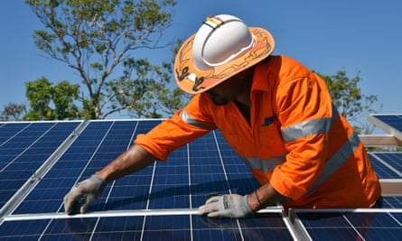 More than $20bn of renewable energy projects are under construction in Australia. Rooftop solar installations now top two million homes.