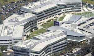 The Yahoo campus in Sunnyvale, California.