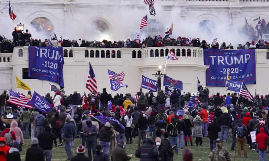Trump supporters storm the Capitol in Washington.