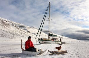 'I made her a little sledge and we went exploring. She loved it': Guirec and Monique in Greenland.