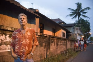 Anthony Bourdain during his No Reservations television show