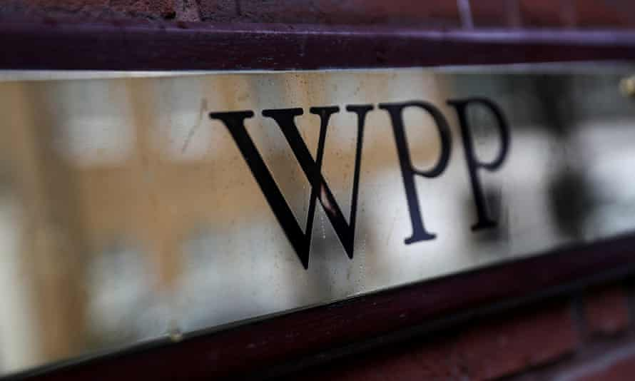 WPP's logo at the company's offices in London