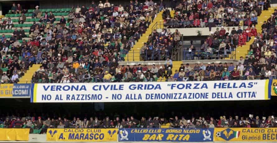 Verona fans in February 2001
