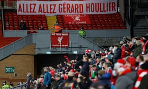 A banner in memory of Gerard Houllier.